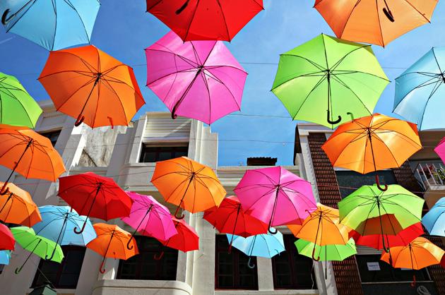 Águeda, Portugal paraguas