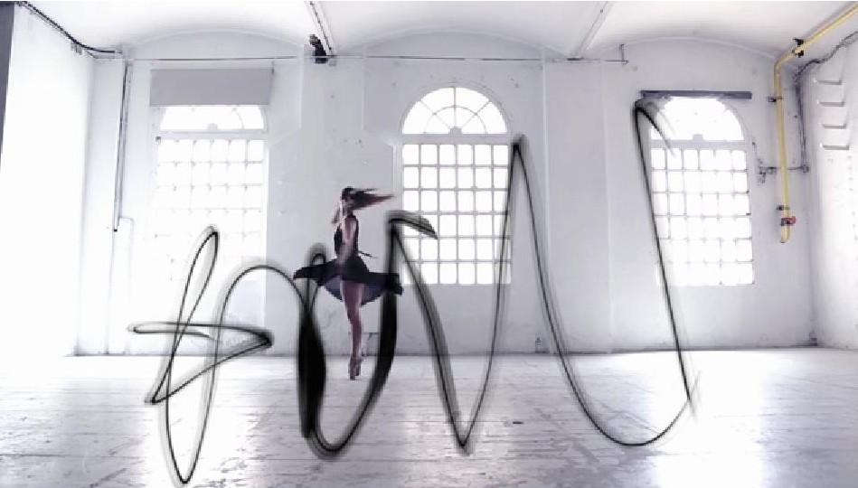 Zapatillas de ballet que crean trazos artísticos