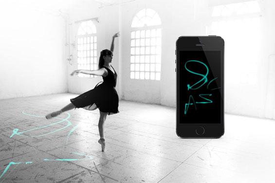 Zapatillas de ballet que crean trazos artísticos9